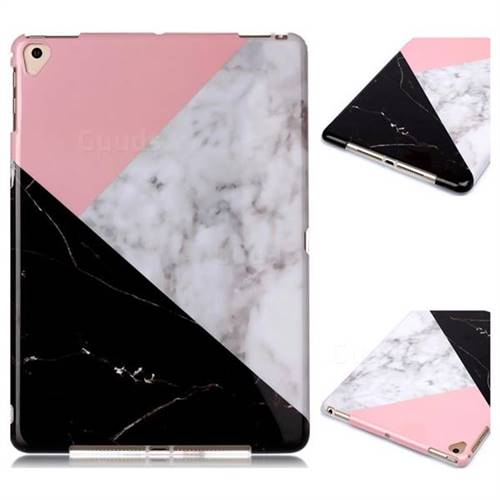 Tricolor Marble Clear Bumper Glossy Rubber Silicone Phone Case for iPad 9.7 2017 9.7 inch