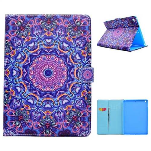 Purple Folio Flip Stand Leather Wallet Case for iPad 9.7 2017 9.7 inch