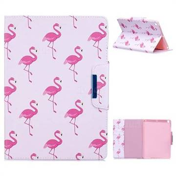 Red Flamingo Folio Flip Stand Leather Wallet Case for iPad 9.7 2017 9.7 inch