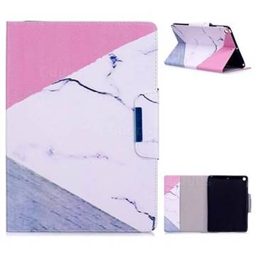 Triangle Marble Folio Flip Stand Leather Wallet Case for iPad 9.7 2017 9.7 inch