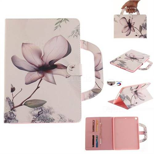 Magnolia Flower Handbag Tablet Leather Wallet Flip Cover for iPad 9.7 2017 9.7 inch