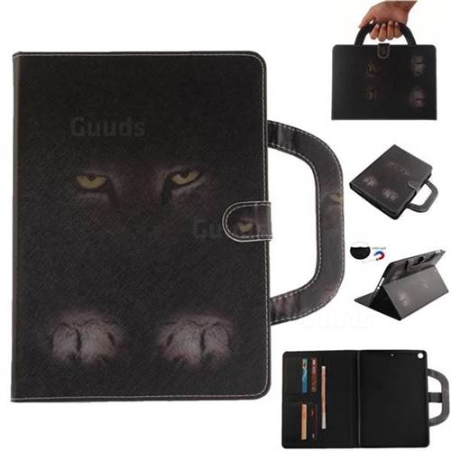 Mysterious Cat Handbag Tablet Leather Wallet Flip Cover For Ipad 9 7 2017 Inch