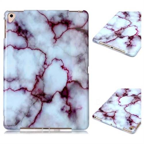 Bloody Lines Marble Clear Bumper Glossy Rubber Silicone Phone Case for Apple iPad 9.7 (2018)