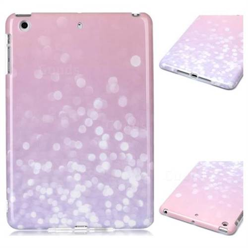 Glitter Pink Marble Clear Bumper Glossy Rubber Silicone Phone Case for iPad Mini 1 2 3