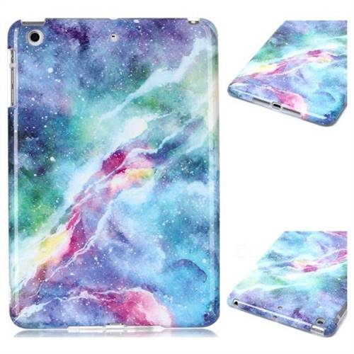 Blue Starry Sky Marble Clear Bumper Glossy Rubber Silicone Phone Case for iPad Mini 1 2 3