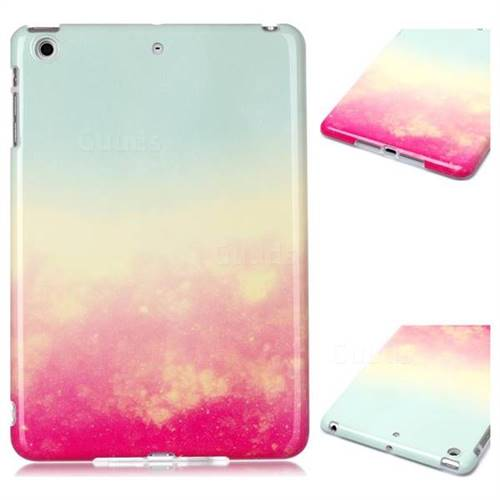 Sunset Glow Marble Clear Bumper Glossy Rubber Silicone Phone Case for iPad Mini 1 2 3