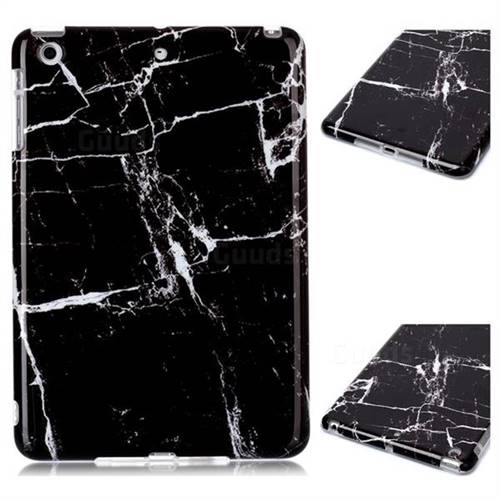 Black Stone Marble Clear Bumper Glossy Rubber Silicone Phone Case for iPad Mini 1 2 3