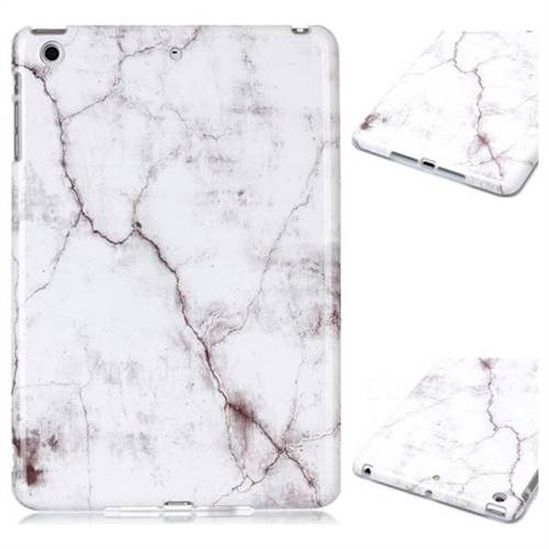 White Smooth Marble Clear Bumper Glossy Rubber Silicone Phone Case for iPad Mini 1 2 3