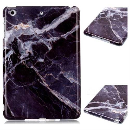 Gray Stone Marble Clear Bumper Glossy Rubber Silicone Phone Case for iPad Mini 1 2 3