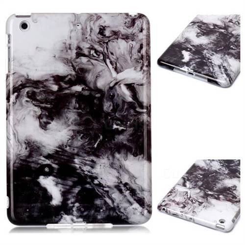 Smoke Ink Painting Marble Clear Bumper Glossy Rubber Silicone Phone Case for iPad Mini 1 2 3