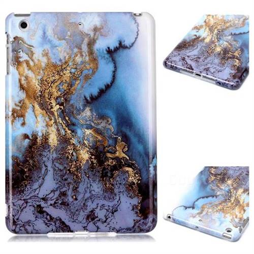 Sea Blue Marble Clear Bumper Glossy Rubber Silicone Phone Case for iPad Mini 1 2 3