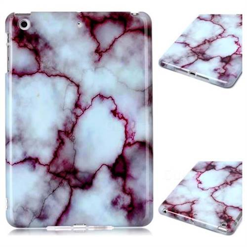 Bloody Lines Marble Clear Bumper Glossy Rubber Silicone Phone Case for iPad Mini 1 2 3