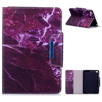 Red Marble Folio Flip Stand Leather Wallet Case for iPad Mini 1 2 3
