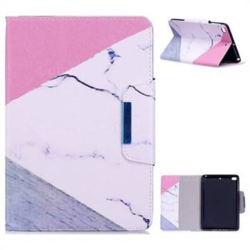 Triangle Marble Folio Flip Stand Leather Wallet Case for iPad Mini 1 2 3