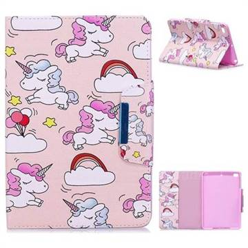 Cloud Unicorn Folio Flip Stand Leather Wallet Case for iPad Mini 1 2 3