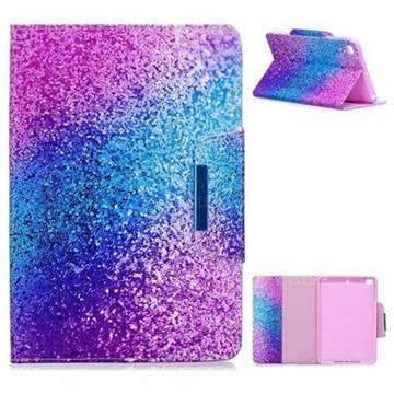 Rainbow Sand Folio Flip Stand Leather Wallet Case for iPad Mini 1 2 3