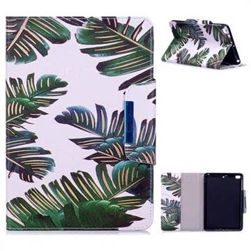 Green Leaves Folio Flip Stand Leather Wallet Case for iPad Mini 1 2 3