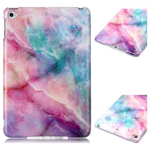 Dream Green Marble Clear Bumper Glossy Rubber Silicone Phone Case for iPad Mini 4