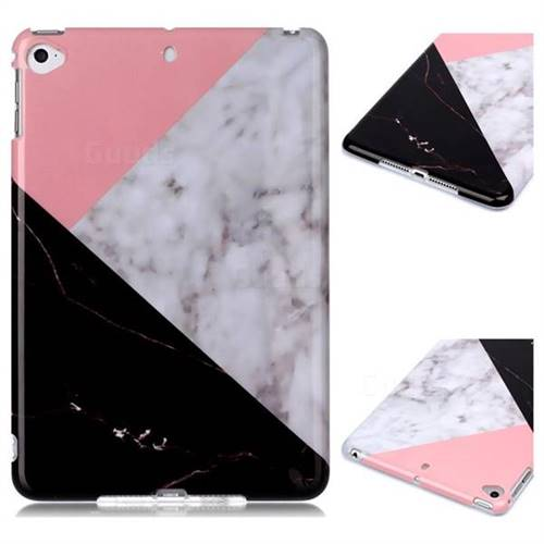 Tricolor Marble Clear Bumper Glossy Rubber Silicone Phone Case for iPad Mini 4