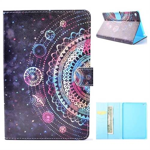 Universe Folio Flip Stand Leather Wallet Case for iPad Mini 4