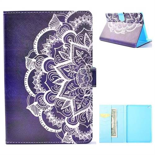 Half Lace Folio Flip Stand Leather Wallet Case for iPad Mini 4