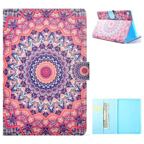 Orange Folio Flip Stand Leather Wallet Case for iPad Mini 4