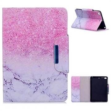 Sand Marble Folio Flip Stand Leather Wallet Case for iPad Mini 4