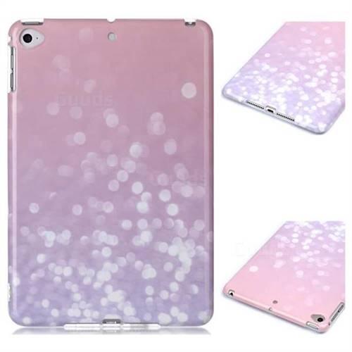 Glitter Pink Marble Clear Bumper Glossy Rubber Silicone Phone Case for iPad Mini 5 Mini5