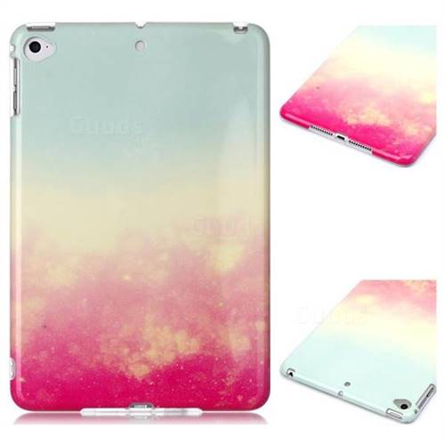 Sunset Glow Marble Clear Bumper Glossy Rubber Silicone Phone Case for iPad Mini 5 Mini5