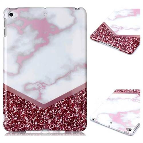 Stitching Rose Marble Clear Bumper Glossy Rubber Silicone Phone Case for iPad Mini 5 Mini5