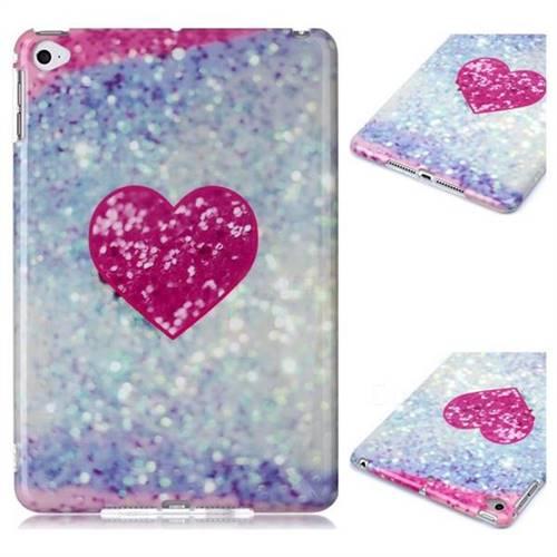 Glitter Rose Heart Marble Clear Bumper Glossy Rubber Silicone Phone Case for iPad Mini 5 Mini5