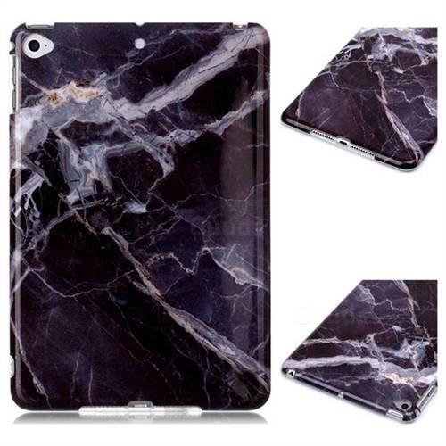 Gray Stone Marble Clear Bumper Glossy Rubber Silicone Phone Case for iPad Mini 5 Mini5