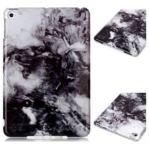 Smoke Ink Painting Marble Clear Bumper Glossy Rubber Silicone Phone Case for iPad Mini 5 Mini5