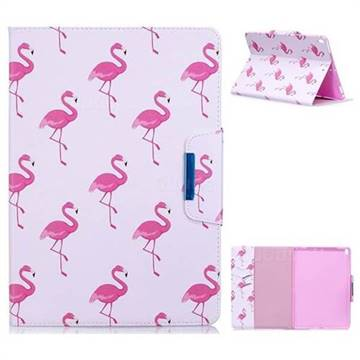 Red Flamingo Folio Flip Stand Leather Wallet Case for iPad Pro 10.5