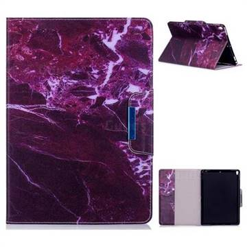 Red Marble Folio Flip Stand Leather Wallet Case for iPad Pro 10.5