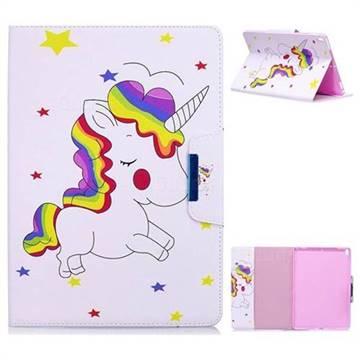 Rainbow Unicorn Folio Flip Stand Leather Wallet Case for iPad Pro 10.5