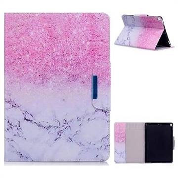 Sand Marble Folio Flip Stand Leather Wallet Case for iPad Pro 10.5