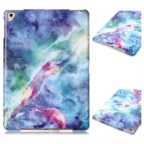Blue Starry Sky Marble Clear Bumper Glossy Rubber Silicone Phone Case for iPad Pro 9.7 2016 9.7 inch