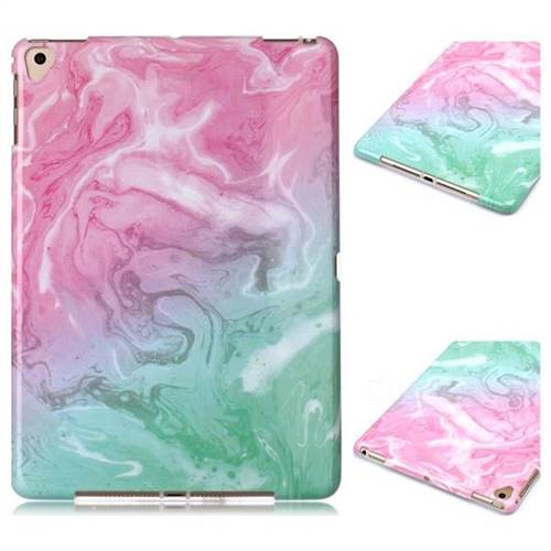 Pink Green Marble Clear Bumper Glossy Rubber Silicone Phone Case for iPad Pro 9.7 2016 9.7 inch