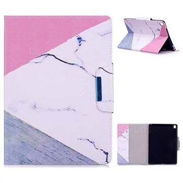 Triangle Marble Folio Flip Stand Leather Wallet Case for iPad Pro 9.7 2016 9.7 inch