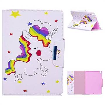 Rainbow Unicorn Folio Flip Stand Leather Wallet Case for iPad Pro 9.7 2016 9.7 inch