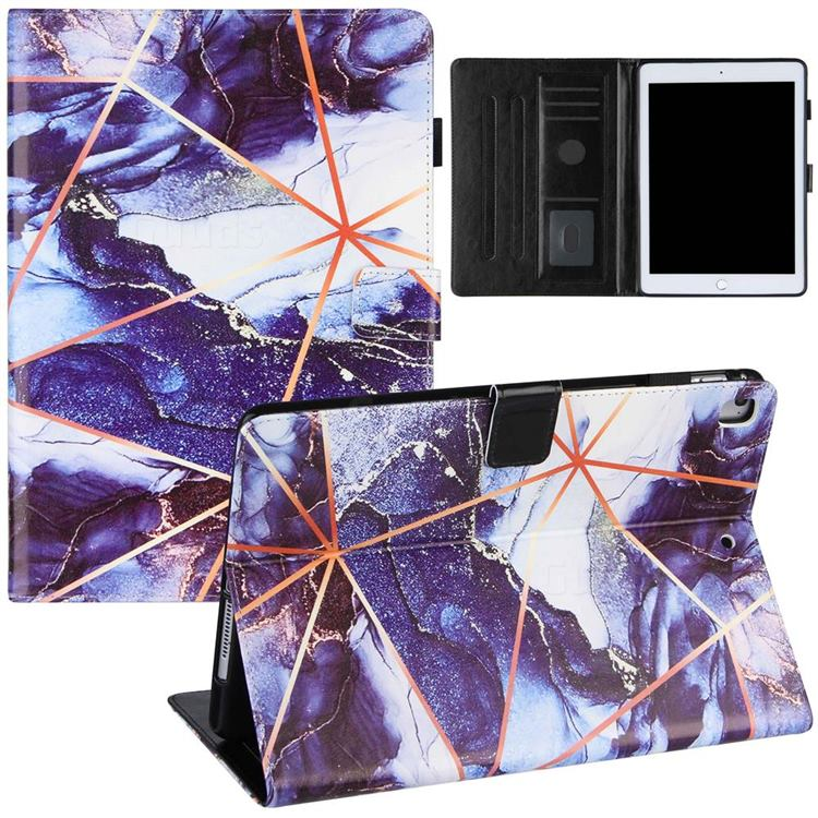 Starry Blue Stitching Color Marble Leather Flip Cover for Apple iPad Pro 9.7 2016 9.7 inch