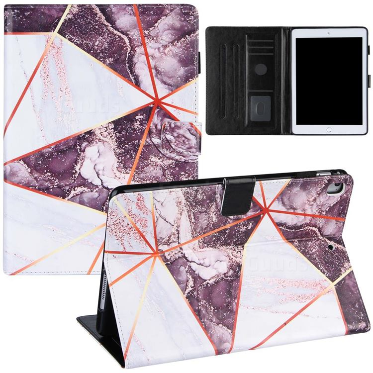Black and White Stitching Color Marble Leather Flip Cover for Apple iPad Pro 9.7 2016 9.7 inch