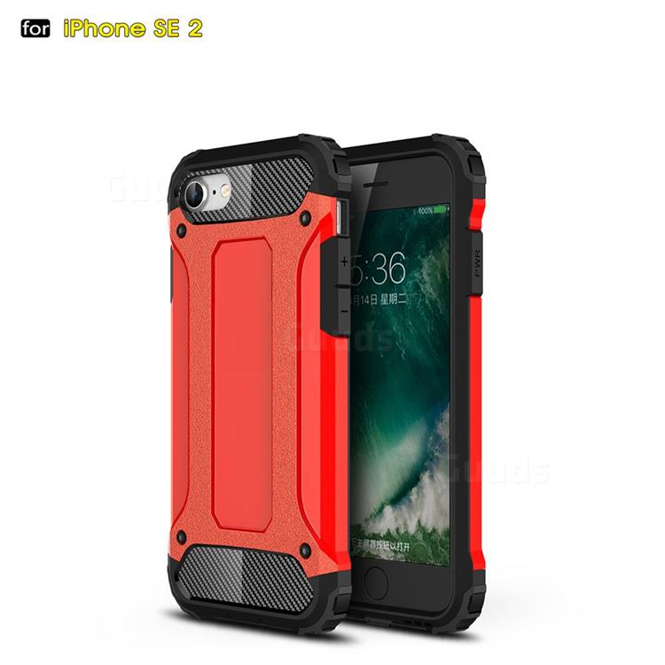 King Kong Armor Premium Shockproof Dual Layer Rugged Hard Cover for iPhone SE 2020 - Big Red