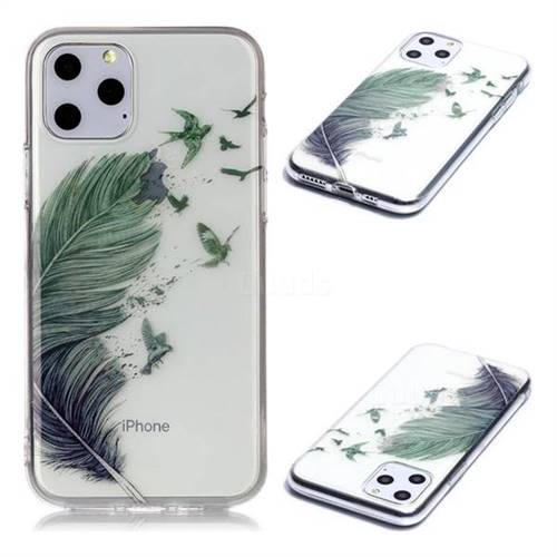 Bird Feathers Super Clear Soft TPU Back Cover for iPhone 11 Pro (5.8 inch)