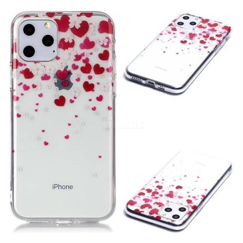 Love Flower Super Clear Soft TPU Back Cover for iPhone 11 Pro (5.8 inch)