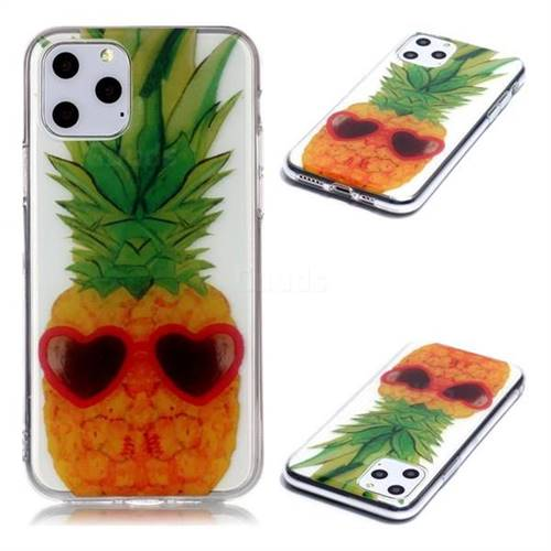 Cute Pineapple Super Clear Soft TPU Back Cover for iPhone 11 Pro (5.8 inch)
