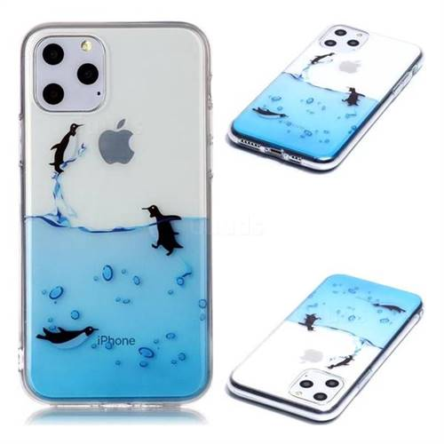 Penguin Out Sea Super Clear Soft TPU Back Cover for iPhone 11 Pro (5.8 inch)