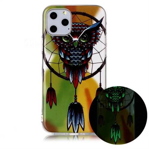 Owl Wind Chimes Noctilucent Soft TPU Back Cover for iPhone 11 Pro (5.8 inch)