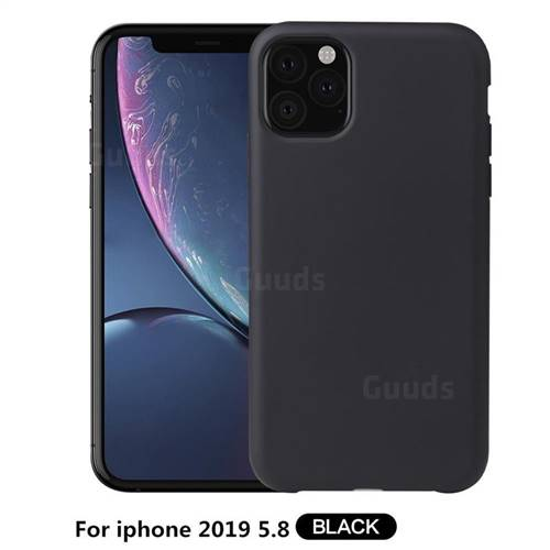 Howmak Slim Liquid Silicone Rubber Shockproof Phone Case Cover for iPhone 11 Pro (5.8 inch) - Black